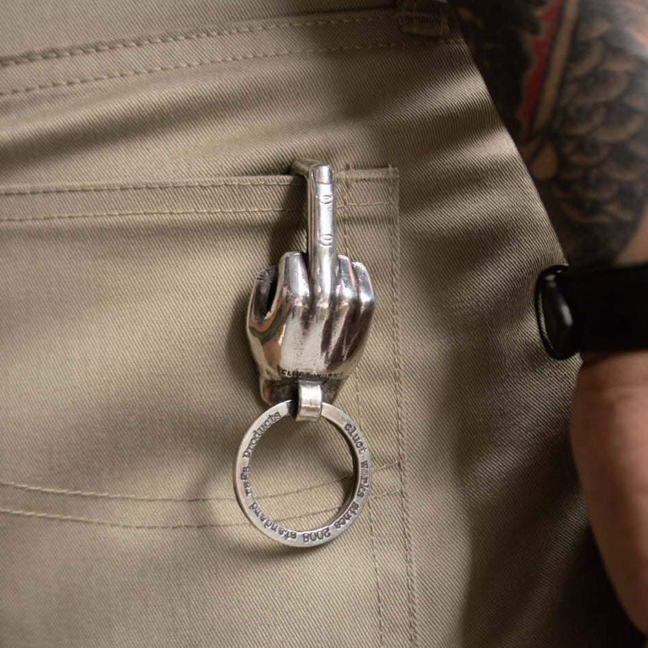 CLUCT×VIN'S  MIDDLE FINGER KEY HOOK 04024 - CLUCT
