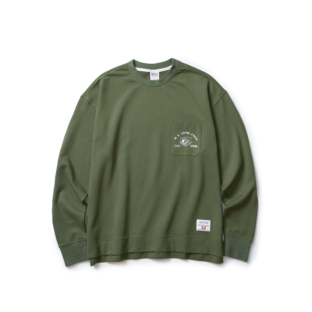LOOSE FIT LIGHT SWEAT 【CLUCT×TOYPLANE】