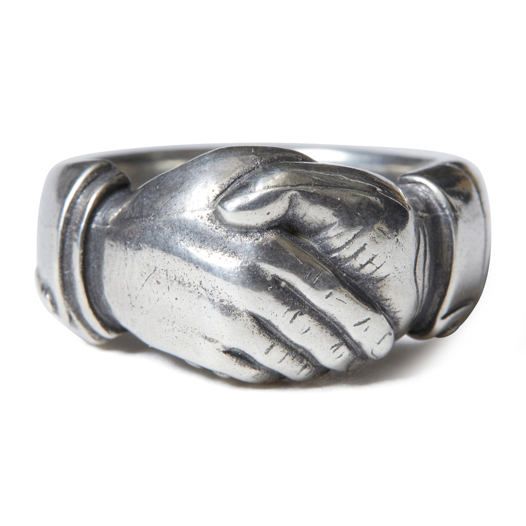 SILVER FRINED SHIP RING