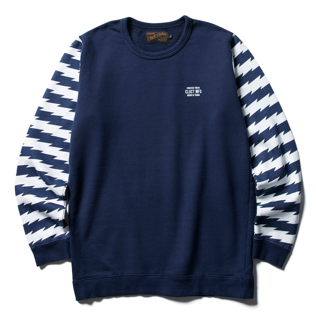 BORDER SLEEVE CREW SWEAT