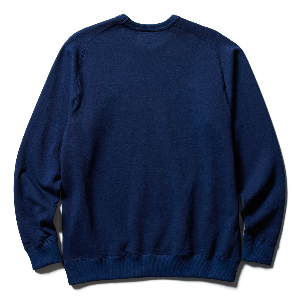 INDIGO CREW NECK SWEAT