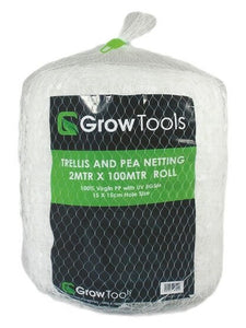 Grow Tools Pea and Trellis Netting 2m x 100m Roll