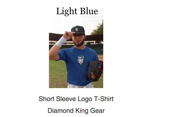 """Original"" Logo In-Stock Diamond King Gear T-Shirts-LIGHT BLUE"