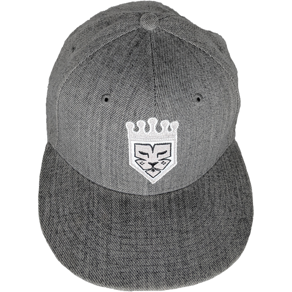 Grey Fitted Custom Baseball Hat