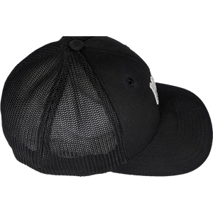 Black Mesh Flex Fitted Hat