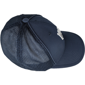 Navy Blue Mesh Flex Fitted Hat