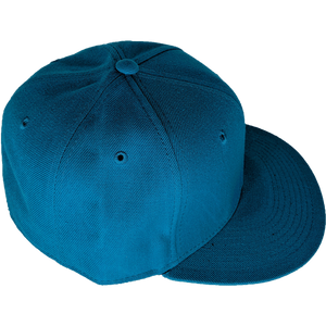 Teal Fitted Custom Baseball Hat