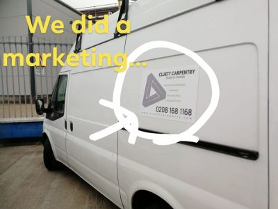 We're Carpenters & Joiners... Not marketers!