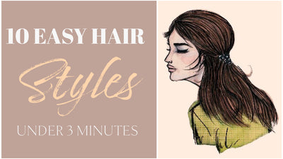 10 Easy Hairstyles For Girls (Under 3 Mins) That Works