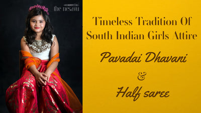 Timeless Tradition Of South Indian Girls Attire Pavadai Dhavani / Half Saree