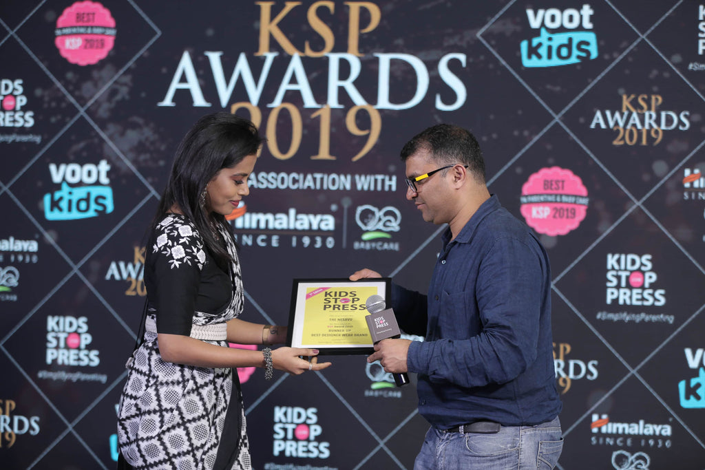 Coimbatore brand 'The Nesavu' won best designer kids wear brand 2019 in India by Kidsstoppress award Indian patenting network