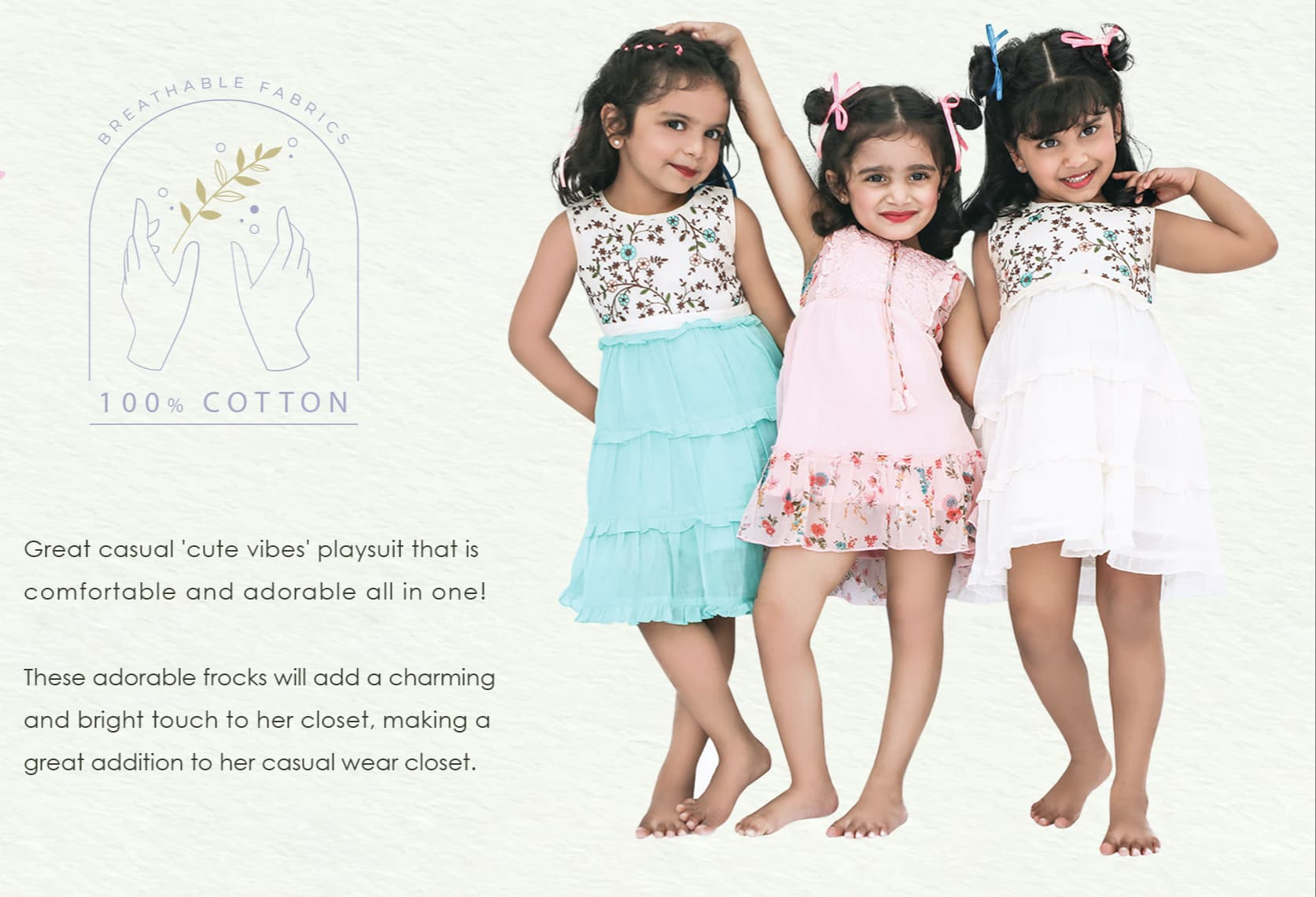 nesavu brand best latest kids cotton frock dress for little girls play wear collection for summer and altimeter casual