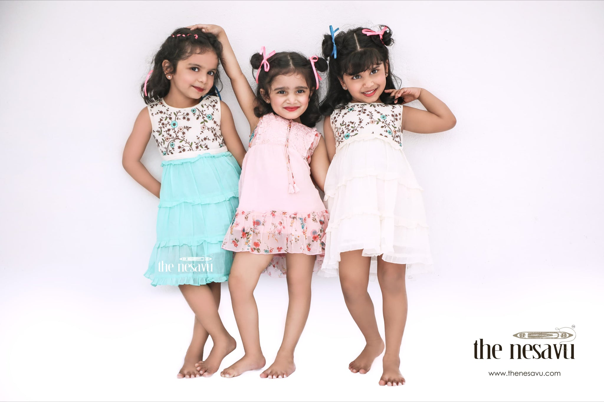 nesavu-brand-cotton frocks for girls and kids playwear summer and all season dress collection picnic wear made of sustainable fabric