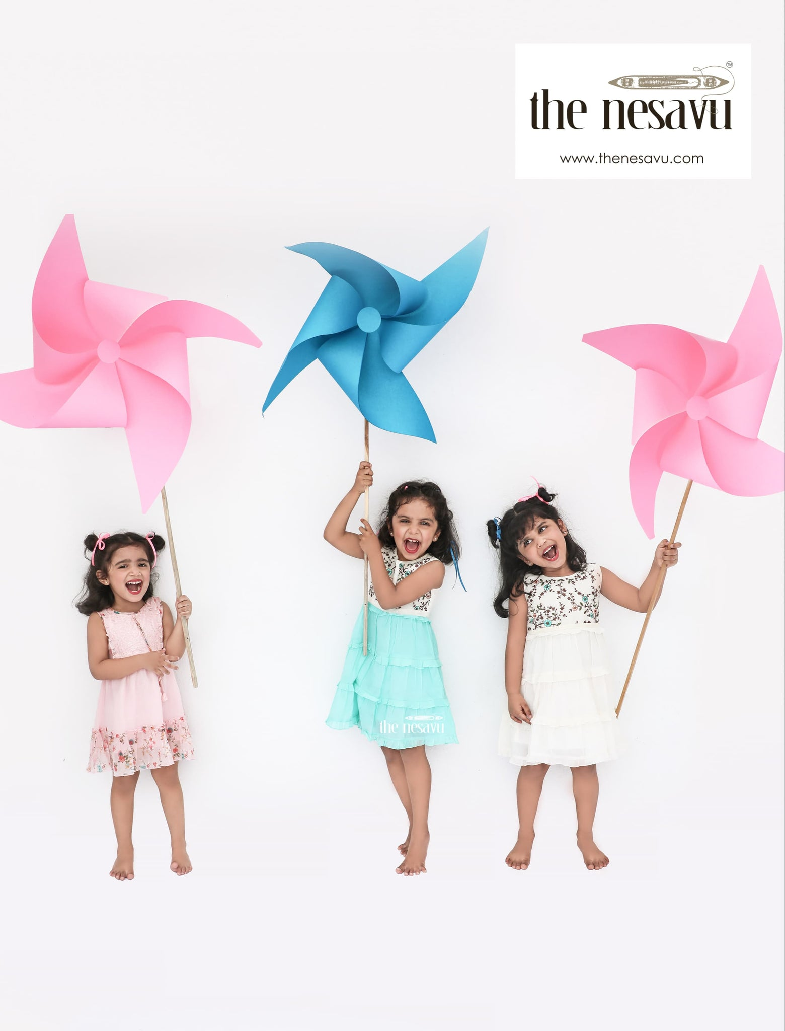Nesavu-brand-zest summer play wear cotton frocks for kids girls made of sustainable eco friendly fabric
