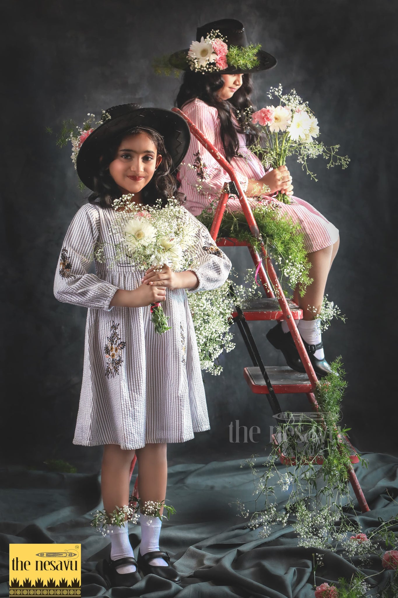 nesavu brand kids wear latest dresses for girls available at psr silks, coimbatore, salem, karur,