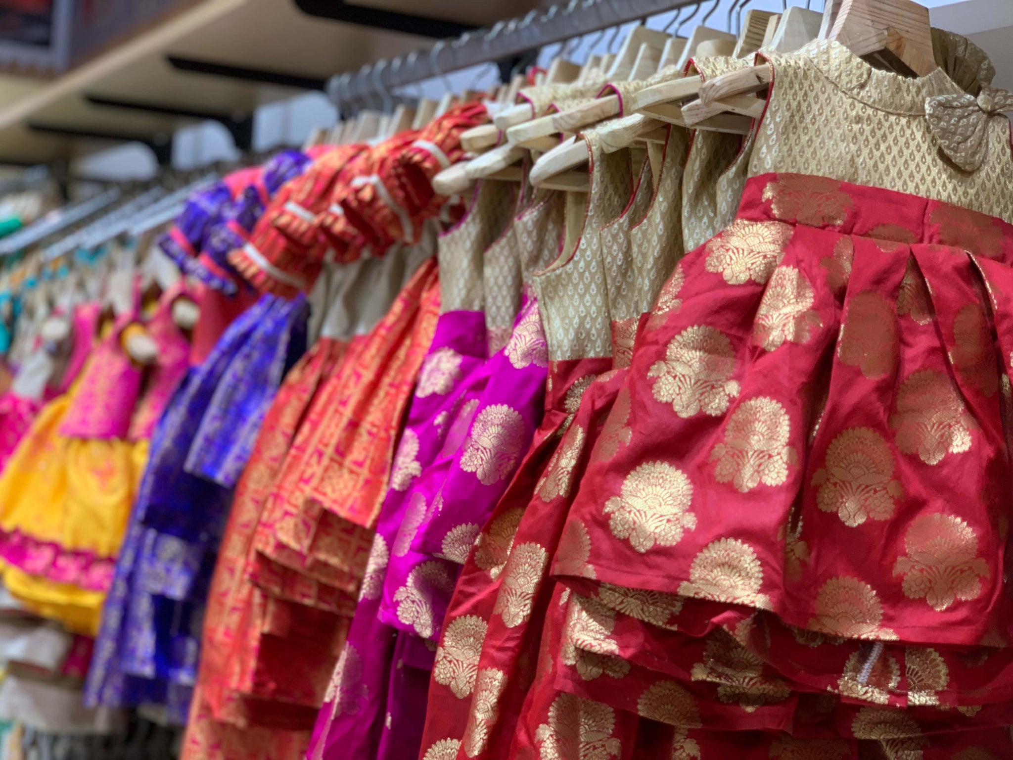 nesavu-bright-coloured-pattu-pavadais-with-intricate-designs-suitable-for-all-occasions-for kids-girls