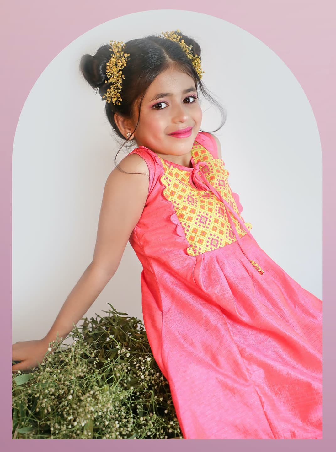 nesavu-india's-best-designer-ethnic-kids-wear-brand-salem-erode-coimbatore-chennai-Launches Grazia - The Soulful pattu pavadai-party-wear-frocks-Collective2-pichi@1x
