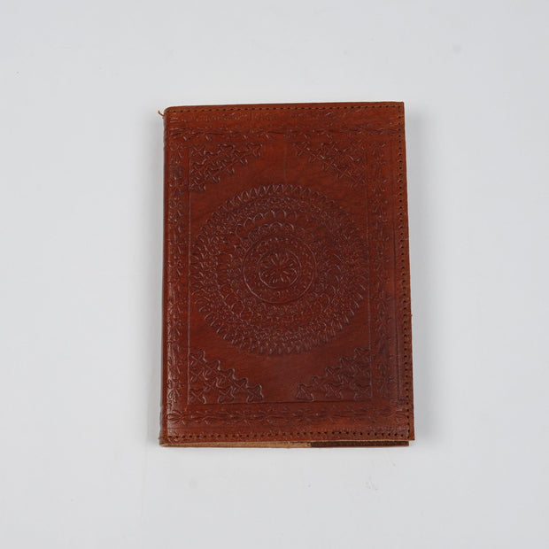 Papa Taka Notebooks Antique Embossed Handmade Designer Leather Journal Notebooks psr silks Nesavu PNJ128A