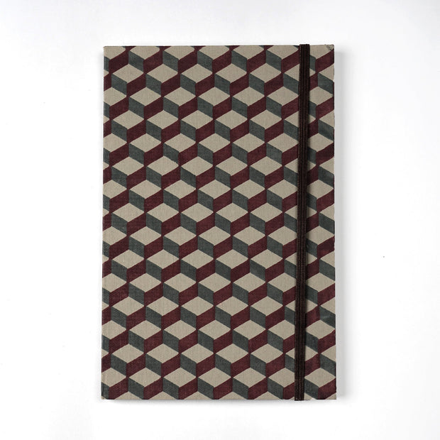 Athangudi tiles crafts of india inspired hand made Journal Notebook Diary - thenesavu