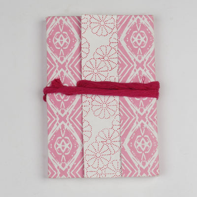 Papa Taka Notebooks Beautiful Notebook in Pink Personalised Diary and Notebook psr silks Nesavu lightcoral PNJ139A