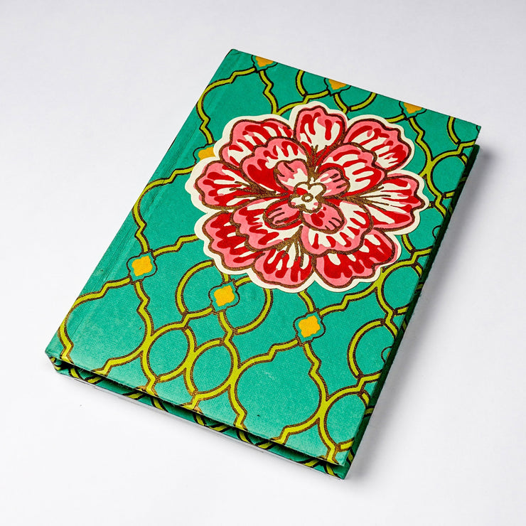 Papa Taka Notebooks crafts of india fabrics inspired hand made Journal Notebook Diary for her psr silks Nesavu KG500
