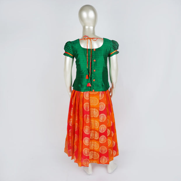 Cute Pattu Parikini / Lehenga for Babies Premium Quality Kids Readymade - thenesavu