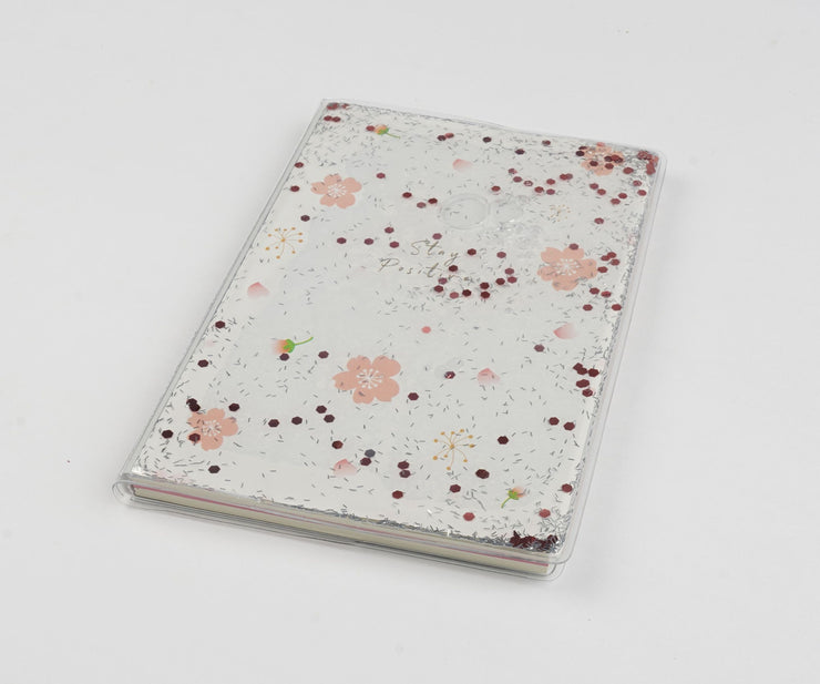 Papa Taka Notebooks Cute Personal Diary for Girl Floating Sequins As Stress Buster Note psr silks Nesavu