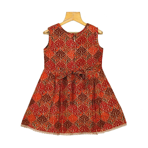 Designer Girls Rayon Cotton Soft Casual Wear Frock Dress - thenesavu