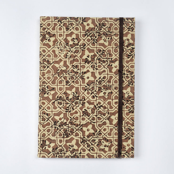 Papa Taka Notebooks Designer Mughal tiles inspired Hand Printed journal Notebook psr silks Nesavu KG528