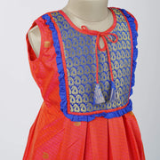 The Nesavu Frocks & Dresses Designer Silk Party Wear Dresses for Girls Kids psr silks Nesavu