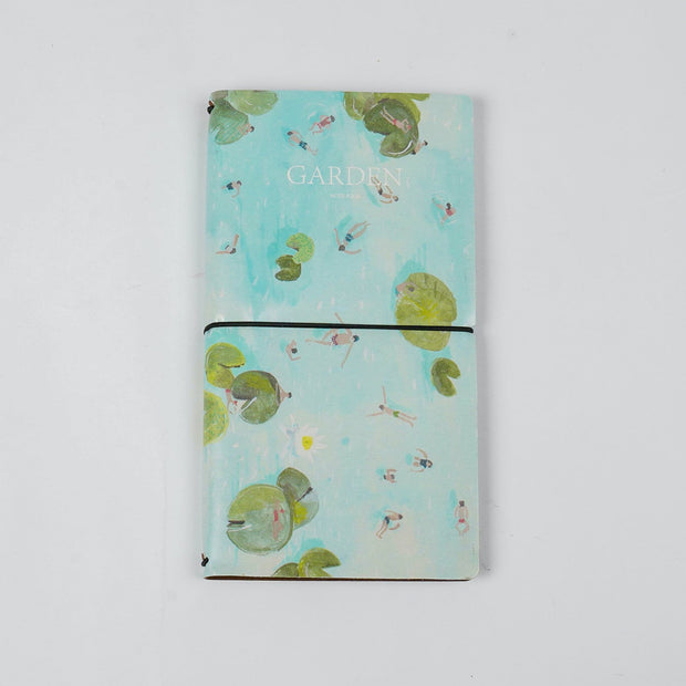 Papa Taka Journals & Diaries Digital printed vegan leather cover traveler's notebook diary psr silks Nesavu Swimming PNJ070D
