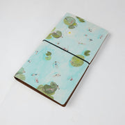Papa Taka Journals & Diaries Digital printed vegan leather cover traveler's notebook diary psr silks Nesavu