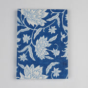 Papa Taka Notebooks Fabric Bound Notebook Indigo Blue Block Print Beautiful Diaries Online psr silks Nesavu 10 x 15 PNJ141A