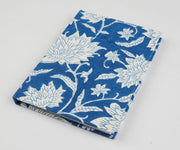 Papa Taka Notebooks Fabric Bound Notebook Indigo Blue Block Print Beautiful Diaries Online psr silks Nesavu