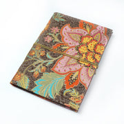 Papa Taka Notebooks Floral printed indian handmade paper Printed Journal Notebook Diary with rope psr silks Nesavu KG515