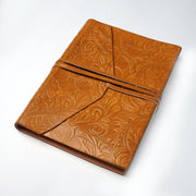 Papa Taka Journals & Diaries Genuine Embossed Indian Leather Personal Journal Diary Notebook Hand-made paper psr silks Nesavu KG482