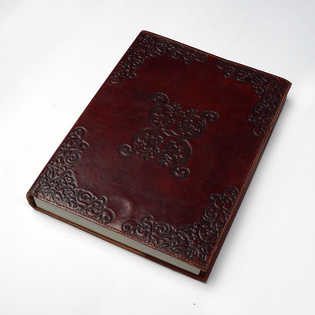 Genuine Indian Leather Hand crafted  Personal Journal Diary Notebook - thenesavu