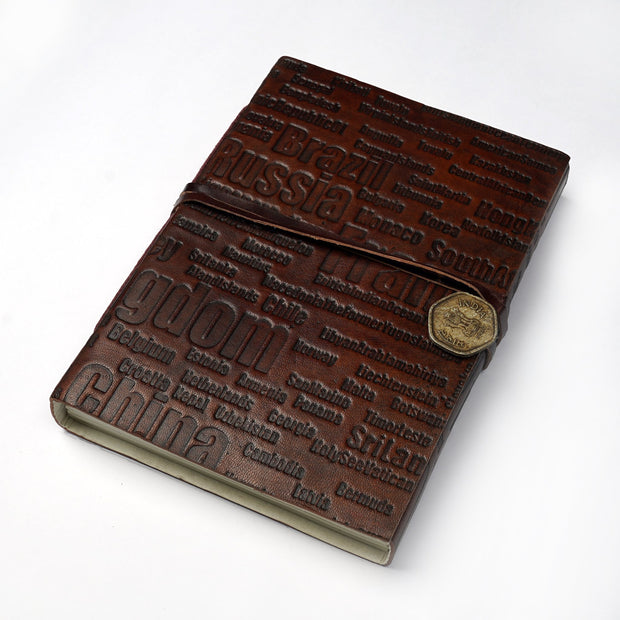Papa Taka Journals & Diaries Genuine Indian Leather Personal Journal Diary Notebook Hand-made paper psr silks Nesavu KG485