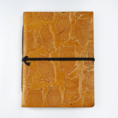 Papa Taka Journals & Diaries Genuine Indian Leather Personal Journal Diary Notebook Hand-made paper psr silks Nesavu KG490
