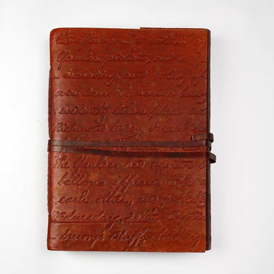 Papa Taka Journals & Diaries Genuine Indian Leather Personal Journal Diary Notebook Hand-made paper psr silks Nesavu KG492
