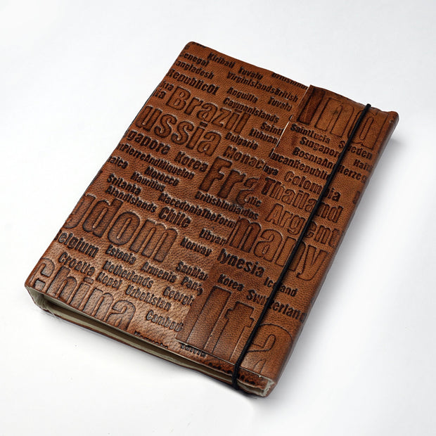 Genuine Indian Traditional Leather Personal Journal Diary Notebook Hand-made paper - thenesavu