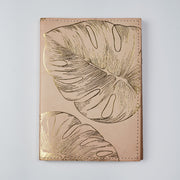 Papa Taka Journals & Diaries Genuine Leather Gold Foil Printed Personal Journal Diary Notebook handmade psr silks Nesavu KG499