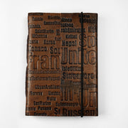 Genuine Vintage Leather Personal Journal Diary Notebook Hand-made paper - thenesavu