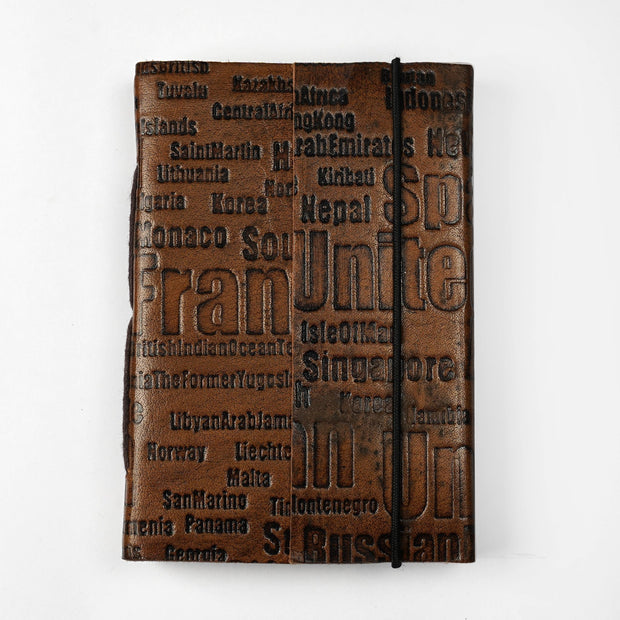 Papa Taka Journals & Diaries Genuine Vintage Leather Personal Journal Diary Notebook Hand-made paper psr silks Nesavu KG494