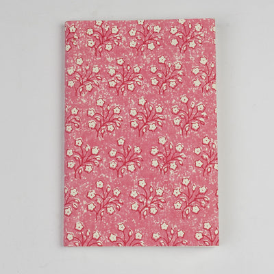 Papa Taka Notebooks Girls Diary in Pink Flower Unique Eco Friendly Writing Journals psr silks Nesavu PNJ145A