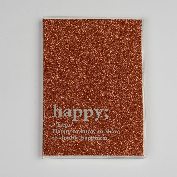 Papa Taka Notebooks Glitter Notebooks With Word Quotes Best Gift for Teens Doodling psr silks Nesavu brown PNJ084D