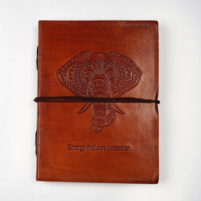 Hand Crafted Indian Travel Genuine Leather Personal Journal Diary Notebook - thenesavu