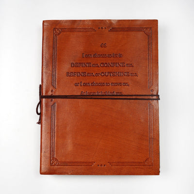 Hand Crafted Indian Travel Traditional Leather Personal Journal Diary Notebook - thenesavu