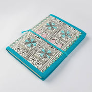 Papa Taka Journals & Diaries Hand painted Madhubani floral design cover locking diary and notebook psr silks Nesavu PNJ044