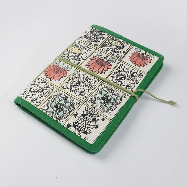Papa Taka Journals & Diaries Hand painted Madhubani painted design inspired cover locking diary and notebook psr silks Nesavu PNJ042